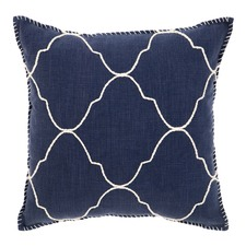 Blue Mosaic Blanket Stitched Cushion
