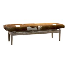 Brown & White Marco Cowhide Bench
