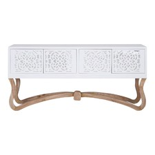 Large White Sienna Ornamental 4 Door Console