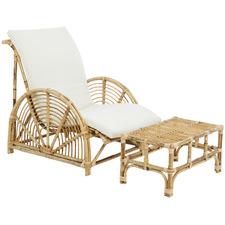 Havana Rattan Armchair & Footrest Set