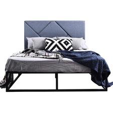 Kian Queen Metal Bed & Kelsie Bedhead