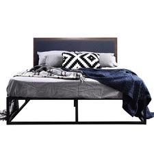 Kian Queen Metal Bed & Lana Bedhead
