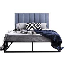 Kian Queen Metal Bed & Martin Bedhead
