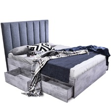 Cleo Queen Storage Bed & Martin Bedhead