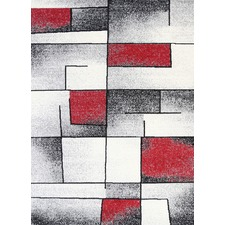 Red & Grey Elise Bricks Rug