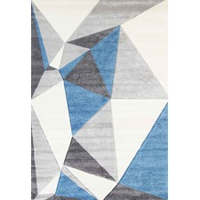 Blue & Grey Harry Abstract Modern Rug