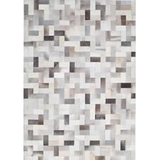 Mocha & Grey Leat Cow Hide Rug