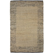 Black Curated Mahal Braided Border Rug