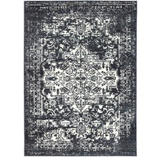 Navy Classical Notes Rug