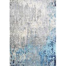 Blue Modern Power Loomed Rug