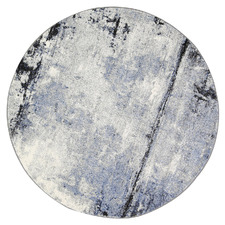 Grey & Blue Chello I Round Rug