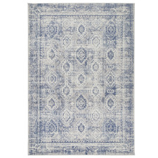Blue Clover Heart Rug