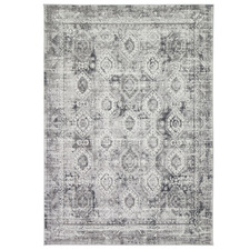 Grey Clover Heart Rug