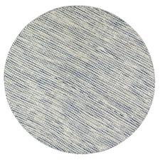 Navy Skandi Hand Woven Wool-Blend Round Rug