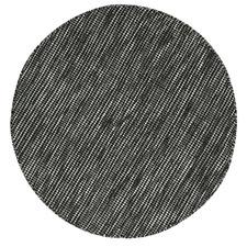 Black Skandi Hand Woven Wool Round Rug