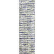 Navy Skandi Hand Woven Wool-Blend Runner