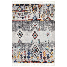 Multi-Coloured Meknes Boho Moroccan Rug