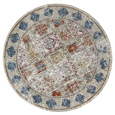 Multi-Coloured Roman Mosaic Four Seasons Round Rug