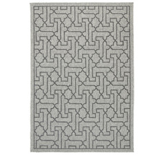 Black & Grey Polo Jolene Patio Rug