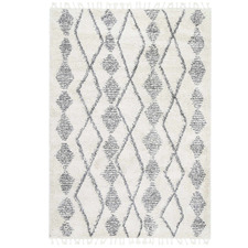 Cream & Silver Tribal Kasper Rug