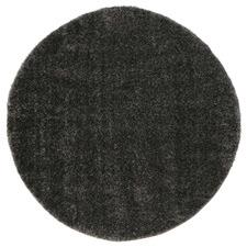 Anthracite Eden Soft Shag Round Rug