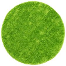 Green Eden Soft Shag Round Rug