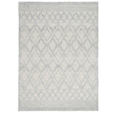 Grey Diamond Flat Weave Wool-Blend Rug