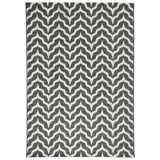 Black & White Geometric Summer Rug