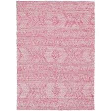 Blush Zair Abstract Hand-Woven Cotton-Blend Rug