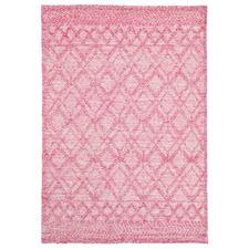 Blush Zair Hand-Woven Cotton-Blend Tribal Rug