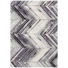 Purple Ivy Chevron Textured Rug