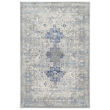 Grey & Navy Blue Expressions Oriental Rug