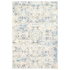 Cream & Navy Blue Expressions Ikat Rug