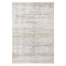 Beige Halbot Power-Loomed Rug