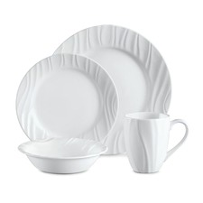 16 Piece Boutique Embossed Swept Dinner Set