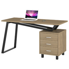 Natural Seliger Desk with Storage