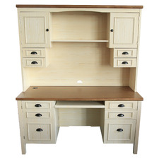 Natural Grunberg Executive Desk with Hutch