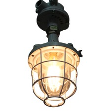 Caged Industrial Ceiling Light with Ceiling Flush Mount