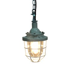 Caged Industrial Pendant Light