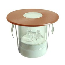 Airlie Solid Copper Round LED Deck Light Kit (5 units)