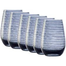 Smokey Blue Stolzle Twister 465ml Tumblers (Set of 6)