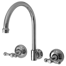 Torino Lever Wall Spa Set with Swivel Outlet