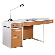 Agile Writing Desk with Mobile Pedestal