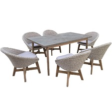 6 Seater Leece Outdoor Dining Table & Chair Set
