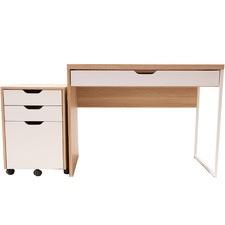 2 Piece Carson Laptop Desk & Mobile Pedestal Set