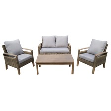 Cali 4 Piece Outdoor Wicker Conversation Set