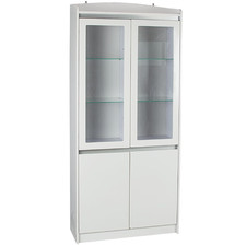 Satin White Aspen 4 Door Bookcase