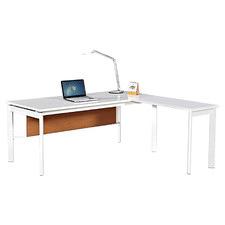 Gloss White Active L Shaped Desk