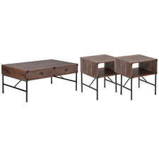 3 Piece Dark Gleason Coffee & Side Tables Set