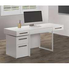 White Sheridan Desk with Mobile Pedestal